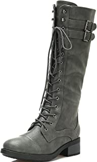 Best grey leather knee high boots Reviews