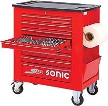 Sonic Equipment S10 - Carro de taller (391 piezas), color rojo