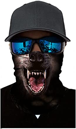 FEDULK 3D Animal Funny Balaclava Face Mask Outdoor Cycling Motorcycle Skiing Snowboarding Halloween