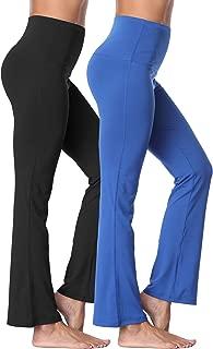 Women's Bootleg Yoga Pants Tummy Control High Waist Bootcut Pant