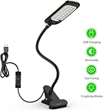 LED Desk Lamp, OxyLED Dimmable Table Light, Clamp Desk Lighting, Clip on Reading Light..