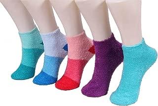 Women's Warm Fuzzy Cozy Aloe Infused Nylon Ankle Home Socks