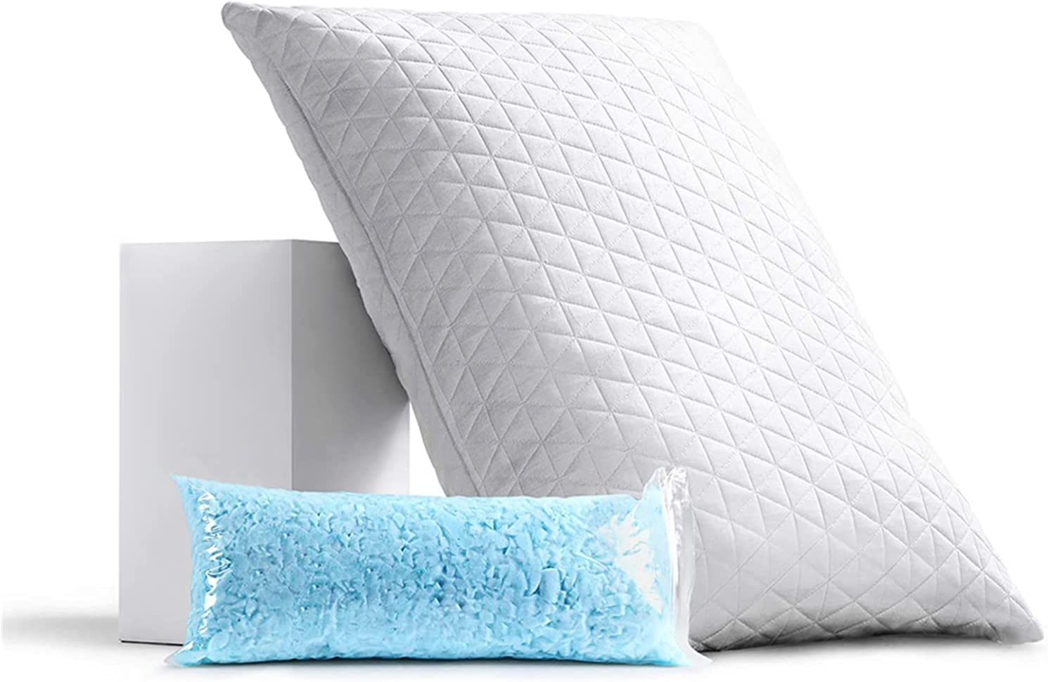 REMOCAHOME Adjustable Shredded Special sale item Memory Foam Pillow Bed Fees free King