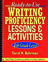 Ready-to-Use Writing Proficiency Lessons and Activities: 4th Grade Level (J-B Ed: Test Prep Book 74)