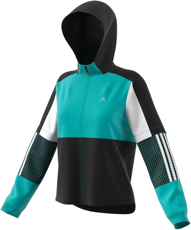 Adidas Athletics Sport ID Wind Jacket, HiRes Aqua Black  White