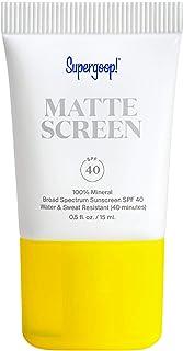 Supergoop! Mattescreen - 0.5 fl oz - 100% Mineral Broad Spectrum SPF 40 Sunscreen - Reef-Safe Formula Smooths Skin's Appea...