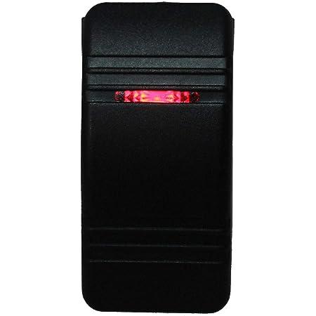 Momentary On Rocker Switch Contura II Soft Black 12 Volt 20 Amp Off