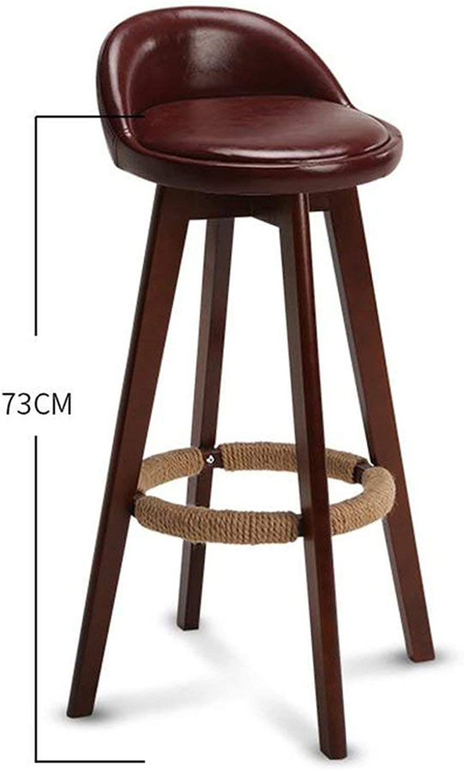 Tthappy76 Bar Stool Nordic Modern Minimalist Household Solid Wood High Stool Bar Stool Bar Chair Leisure Back Chair Stool,Style 19