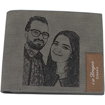 Womens Personalized Photo Wallets Sculptural Custom Picture Long Money Clip Leather