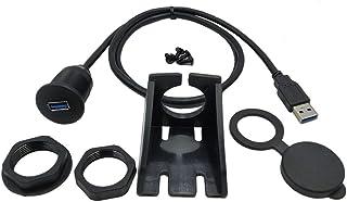 healthwen Adaptador de Muelle USB de Montaje Empotrado Panel 3.0 Puerto Macho a Hembra Cable