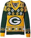 NFL Women's V-Neck Sweater, Green Bay Packers, Medium