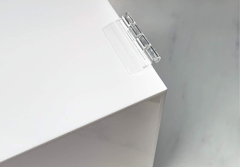 buz/ón decorativo felicitaci/ón con candado de coraz/ón blanco Caja para tarjetas de regalo de acr/ílico para boda para regalos de invitados tarjetas de agradecimiento