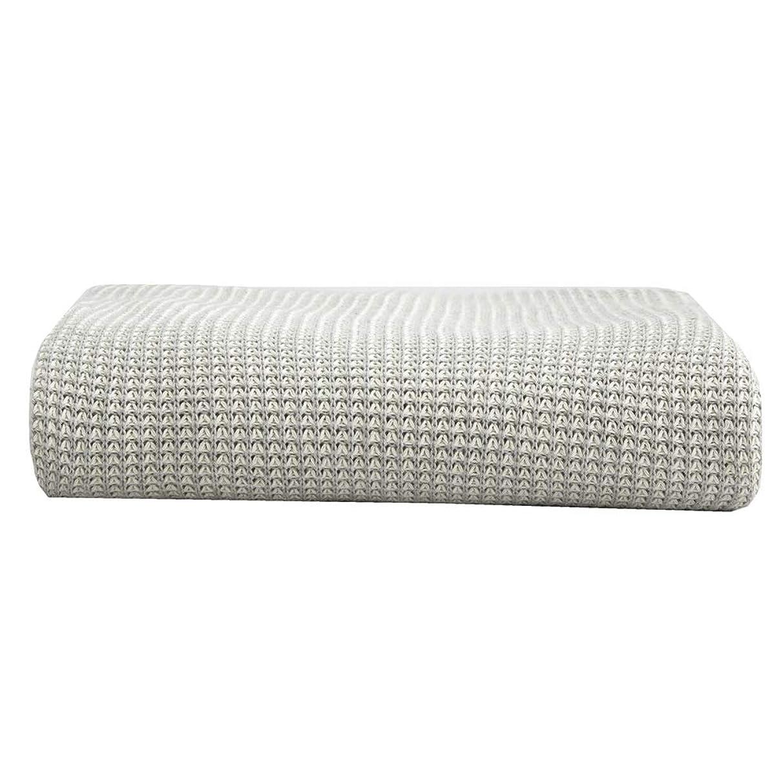 集団的屋内でお世話になったソフトカウチ毛布 ニット投球毛布ソフトソファソファ装飾毛布多機能レジャー毛布 ルームベッドルームビーチトラベル (Color : Gray, Size : 130cmx160cm)