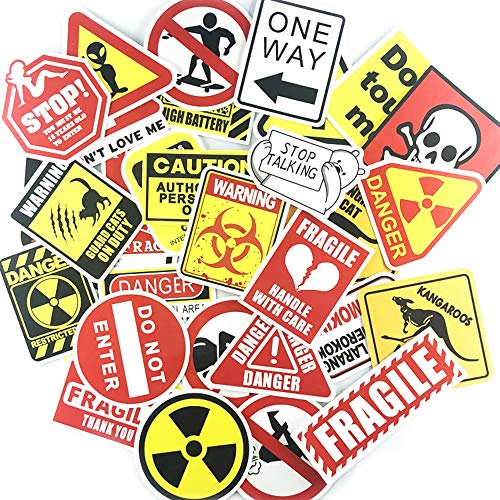 Waarschuwing Sticker Set Grappige Breekbare Stickers voor DIY Motorfiets Laptop Decoratie 50 stks/set