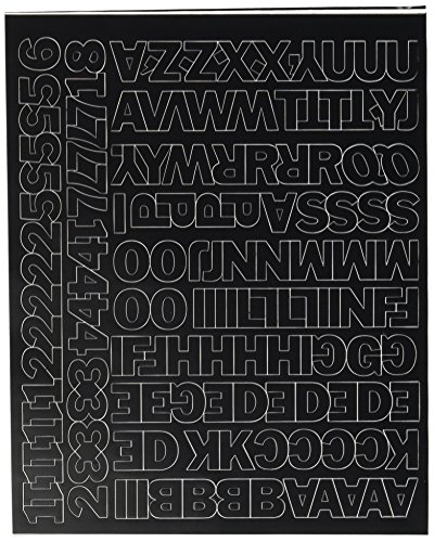 Duro Decal Permanent Adhesive Vinyl Letters & Numbers: 3/4' Gothic Black