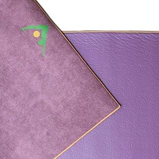 Aurorae Synergy 2 in 1 Yoga Mat; with Integrated Non Slip Microfiber Towel. Best for Hot, Ashtanga, Bikram and Active Yoga...