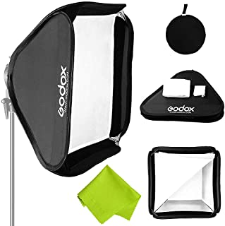 "Godox 32""x 32""/80cmx80cm Portable Collapsible Softbox Kit for Camera Photography Studio Flash fit Bowens Elinchrom Mount"