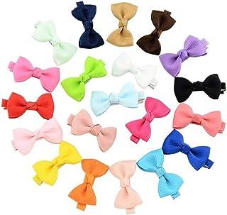 20PK Simple Grosgrain Ribbon Bow Hair Clip Cute Side Clamp Elegant Headwear Chrysanthemum Ornaments Barrettes Party Favors...