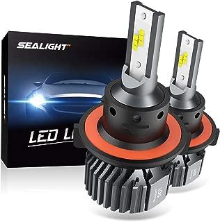 SEALIGHT H13 9008 LED Headlight Bulbs Fanless 6000K White High Low Beam CSP Chips Halogen Headlight Replacement 30W 5000Lumens