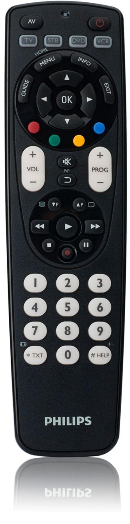 Philips SRP4004/87 - Mando a distancia universal (4 en 1, antichoque, botónes de retroiluminación), negro: Amazon.es: Electrónica
