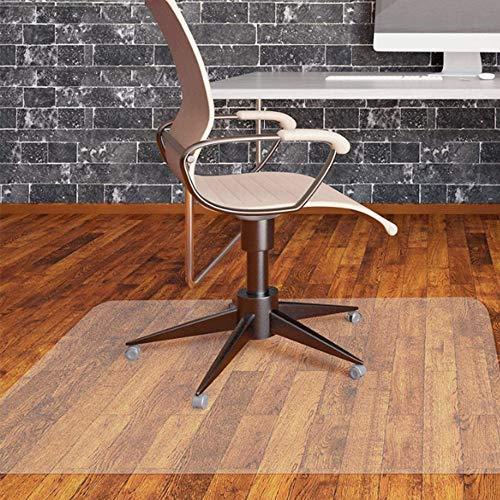 WLF-didian Teppichboden-Schutzmatte, Bürostuhl-Bodenmatte, transparent, rutschfest, wasserdicht und pflegeleicht, 2 Größen, 2 Stärken,2mm,100cm*90cm