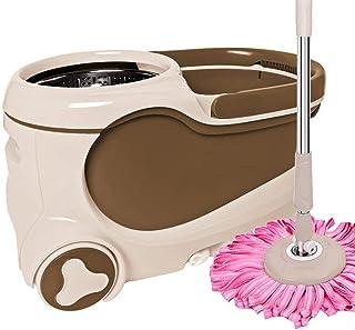 Lavar A Mano Limpiador En Seco Y Húmedo Fregona, Spin Mop Cubo con Escurridor Sistema Doméstico Auto Deshidratación Fregona 4 X Reemplazar Mop HEA,C