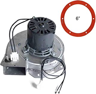 PelletStovePro - Breckwell Pellet Exhaust Combustion Motor Blower w Housing and Silicone Gasket A-E-027