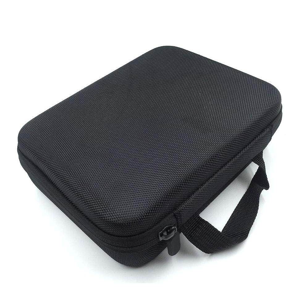 凝視収縮可能性[RADISSY] アロマポーチ エッセンシャルオイル ケース 収納ボックス メイクポーチ 30本用 (ブラック)