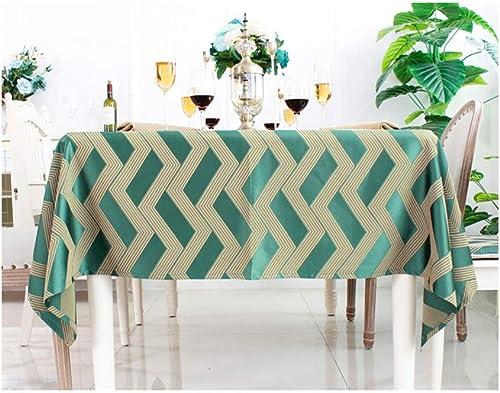 &Tischdecke Tischdecke Platz Tisch Esstisch Schreibtisch Satin Baumwolle Hochzeit Tischdekoration Wasserdicht Bankett Wohnzimmer Familienhotel Restaurant --- Grün, Kaffee Farbe, Gold, Dunkelblau, Blau