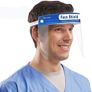 5 Pack All-Round Protection Cap with Clear Wide Visor Spitting Lightweight Transparent Shield with Adjustable Elastic Band and Comfort Sponge
