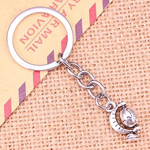 ARTAKA Keychain 17x12mm globe Pendants DIY Men Key Chain Ring Holder Souvenir For Gift