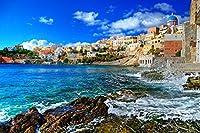 Syros、ギリシャビーチ - #16885 - キャンバス印刷アートポスター 写真 部屋インテリア絵画 ポスター 75cmx50cm