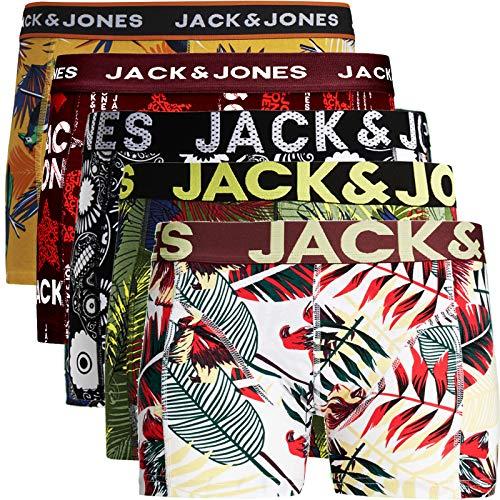 JACK & JONES Herren 5er Pack Boxershorts Mix Unterwäsche Mehrpack,5er Pack Bunt 2 Ohne Wäschesack,L