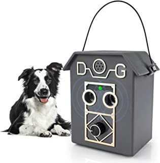 Anti Barking Device,2020 Upgrade Dog Barking Device with 4 Adjustable Level,2 Ultrasonic Sound Speaker, Sonic Bark Deterre...