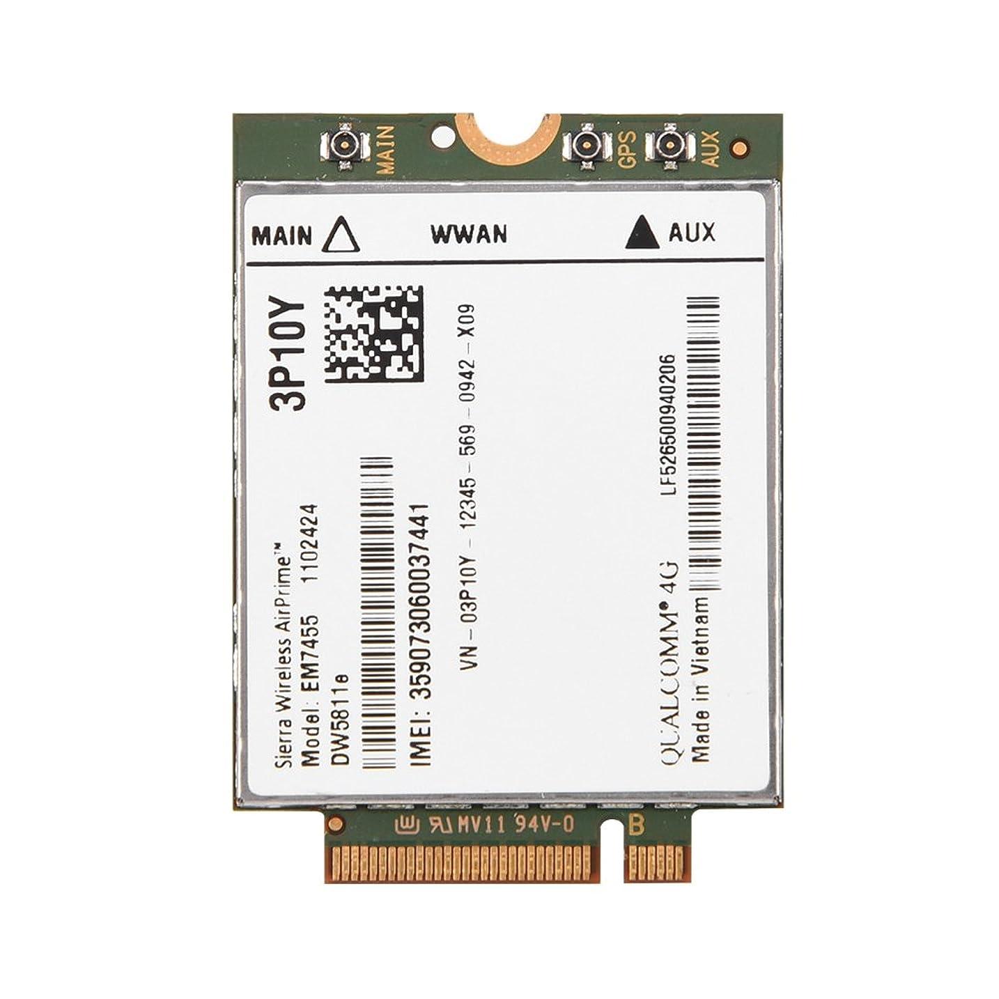うねるに向けて出発賛美歌Eboxer ネットワークカード 無線LANカード ワイヤレスEM7455 4G LTEモジュール 42 x 30 x 2.3 mm