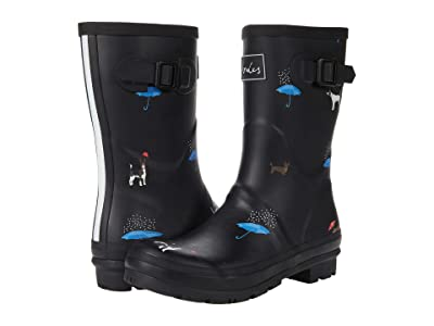 Joules Molly Welly (Black Cat Dog) Women