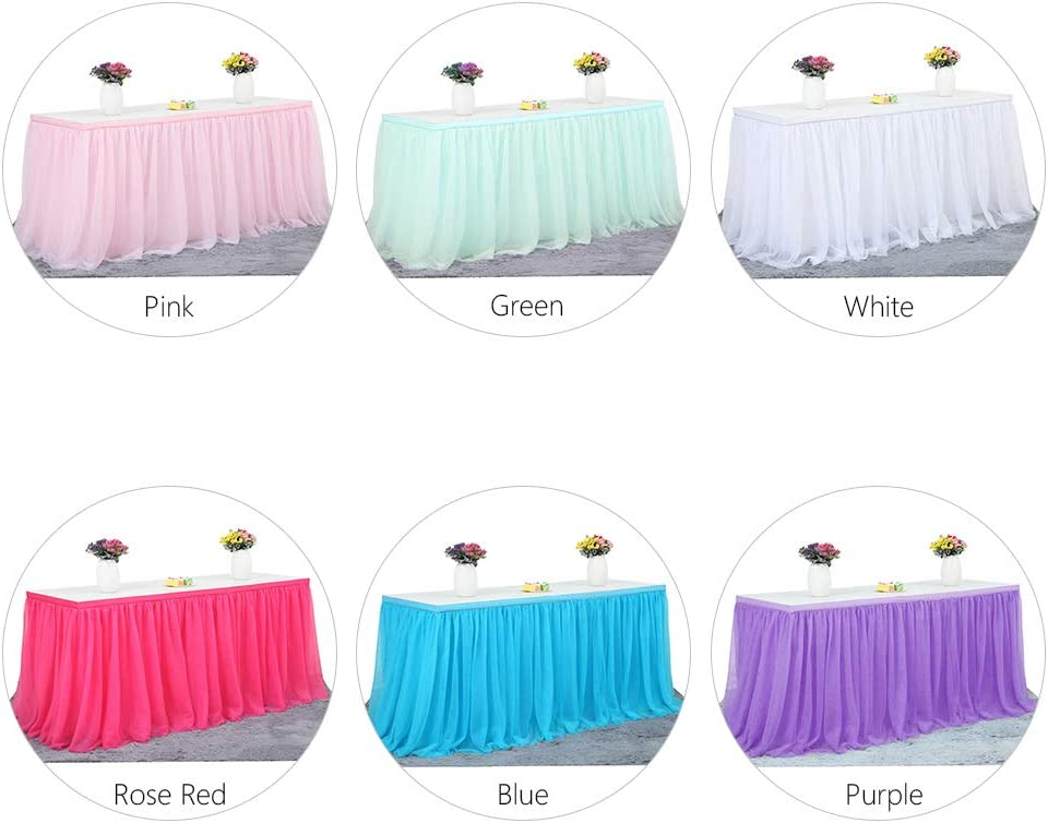 gaixample.org Toys & Games Table Skirts Decdeal Tulle Table Skirt ...