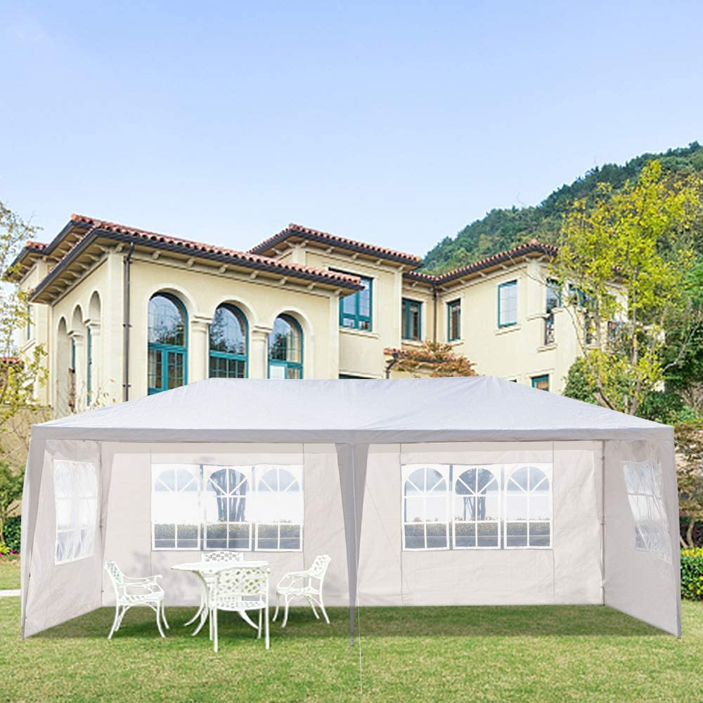 Binlin Free shipping anywhere in the nation Canopy Tent White Pop Folding Import Shade Instant Portable Up