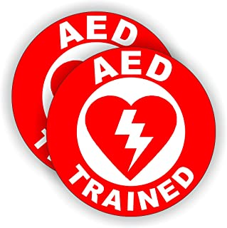 AED Trained Hard Hat Sticker / Helmet Decal Label Lunch Tool Box