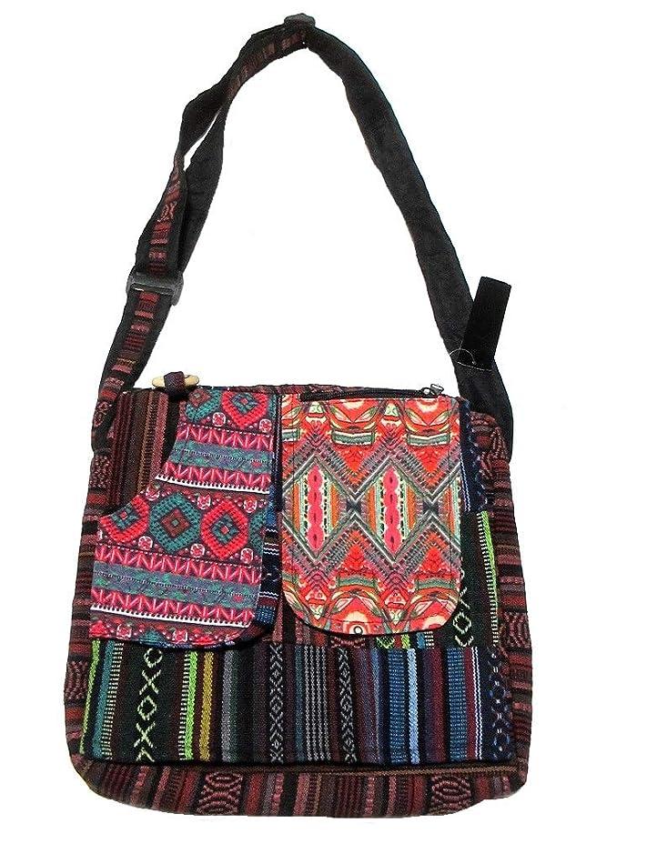 肩をすくめるバングラデシュサイトラインパッチワークエスニックショルダーバッグエスニック衣料雑貨