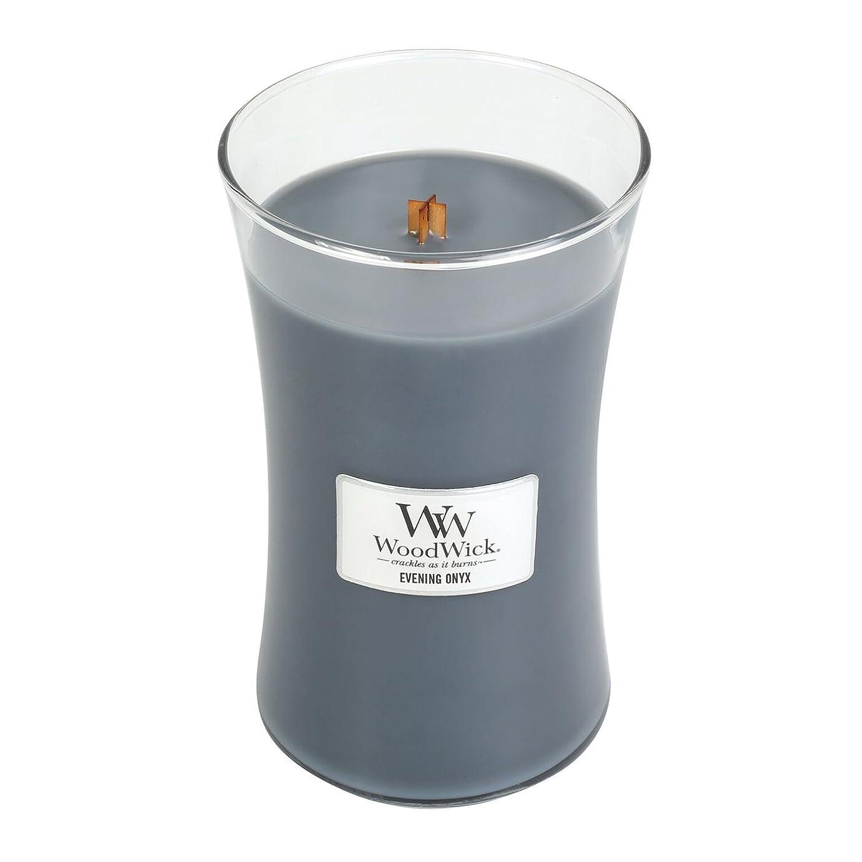 フェンス資金ラウンジWoodWick EVENING ONYX, Highly Scented Candle, Classic Hourglass Jar, Large 18cm, 640ml