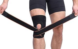 冷感护膝 舒缓疼痛 珪胶减震 可调节带子 防滑落 透ガス 爬山 跑步 骑车 骑马 户外 快速吸汗 ユニセックス