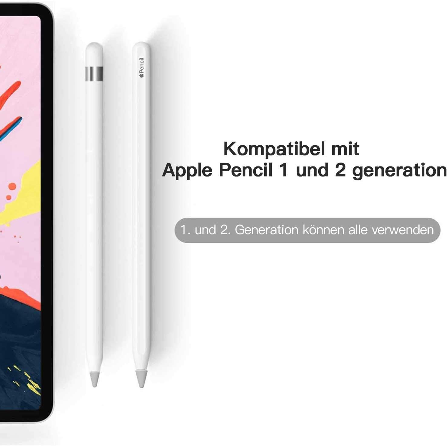 Spitze Zubeh/ör iPencil Nib Protective Cover 45 Packung PZOZ 45 Packung rutschfeste Kappe f/ür Apple Pencil 1.und 2 Grau Generation iPad Pen Silikon Schreibfeder