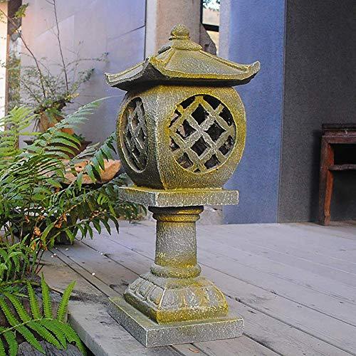 Glove Adornos de Resina para Exteriores, estupa de Pagoda, esculturas de linternas de jardín, Estilo japonés, decoración asiática, Manualidades, Patio, Figuras de Pat