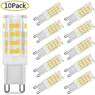 G9 LED Bulb 5W Equivalent to 40W Bi-Pin G9 Base Halogen Bulbs AC 110V-120V Warm White 2700K-3000K G9 LED Light Bulbs, Non-Dimmable (10 Pack)