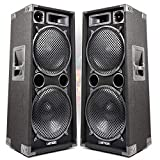 Pair of Max 212 Double 12 Inch Passive PA Speakers Karaoke Party DJ