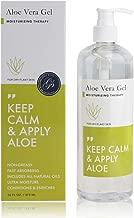 Gel de Aloe Vera (473 ml botella de bomba) 100% vegano y sin parabenos - cuidado después del sol para el cabello y el cuerpo, después del afeitado