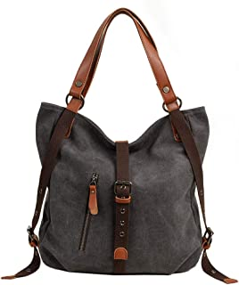 Neumora Lady Women Casual Canvas Handbag Shoulder Bag and Backpack 2 in 1