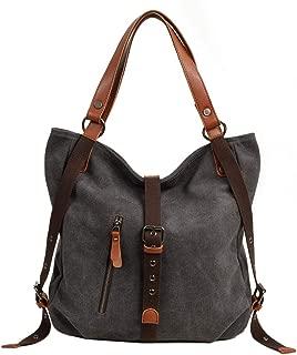 Neumora Lady Women Casual Canvas Handbag Shoulder Bag and Backpack 2 in 1