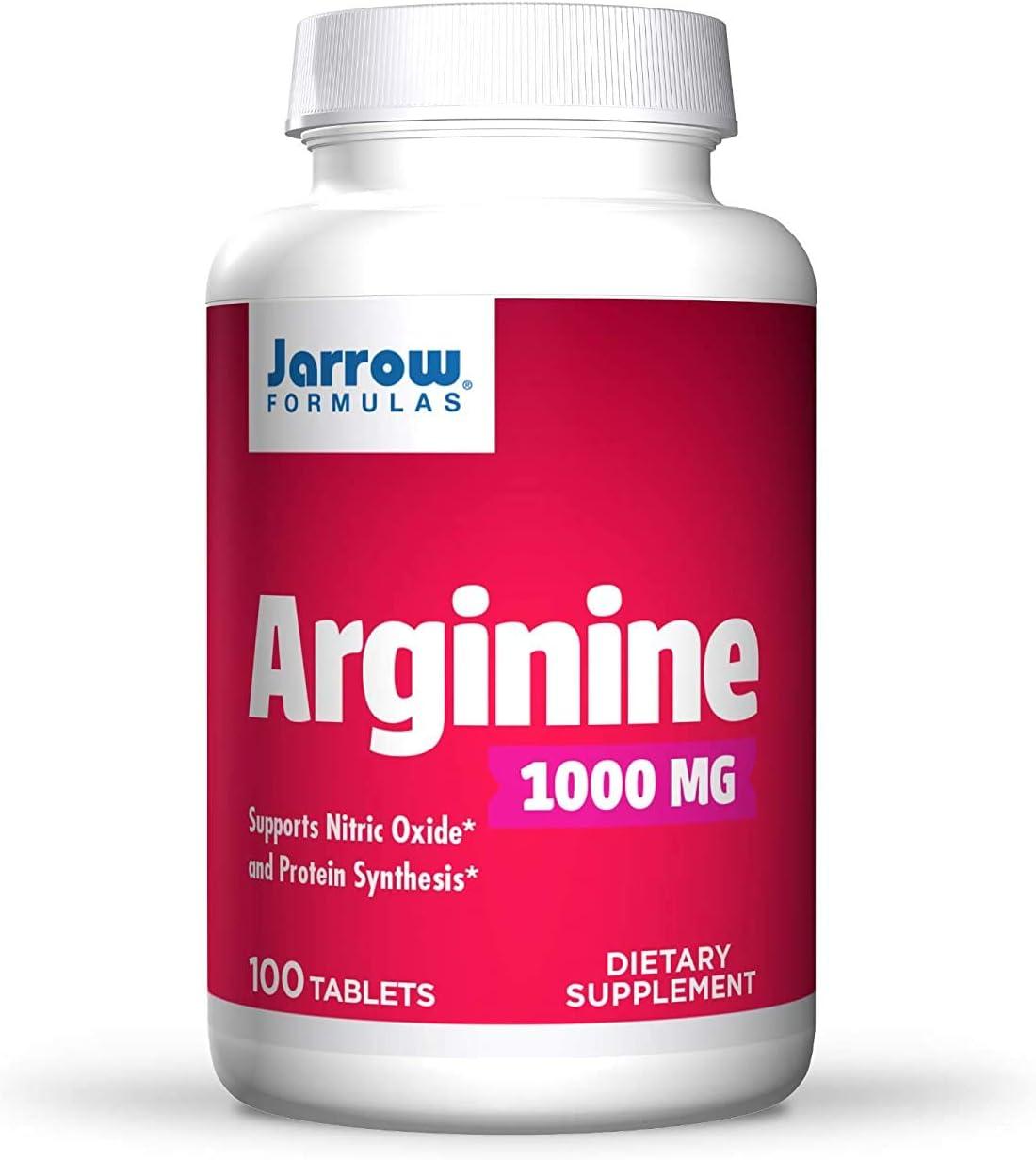 RRG Industry No. 1 Jarrow Formulas L-Arginine Attention brand 1000mg Tablets 100